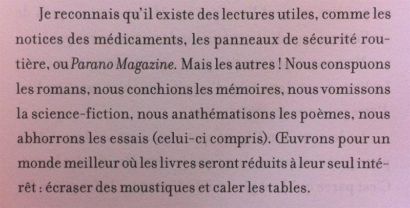 20 bonnes raisons d'arrêter de lire de Pierre Ménard